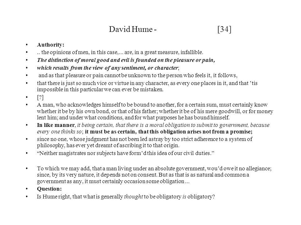 David Hume - [34] Authority: